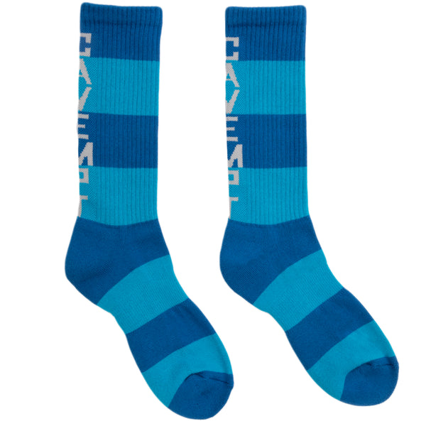 Cav Empt FW19 Striped Socks, Blue