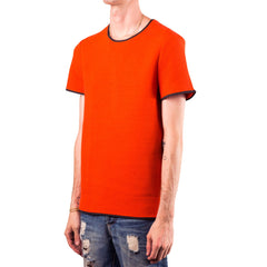 T by Alexander Wang Ribbed Crewneck S/S Top (Red)
