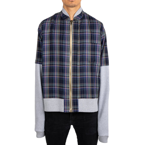 Warren Lotas SS19 Summer Bomber Jacket, Flannel Grey