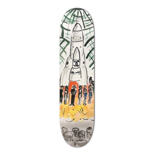 "An OutKast ""Runway Rocket Ship"" Skateboard Deck, Multi"