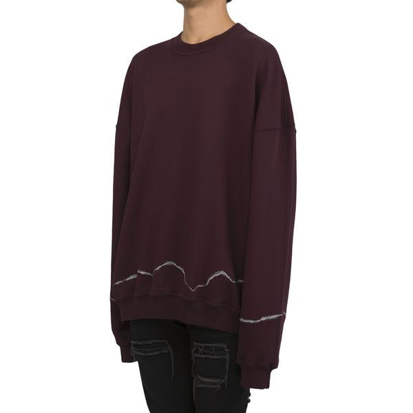Haider Ackermann Embroidered Perth Crewneck (Plum)