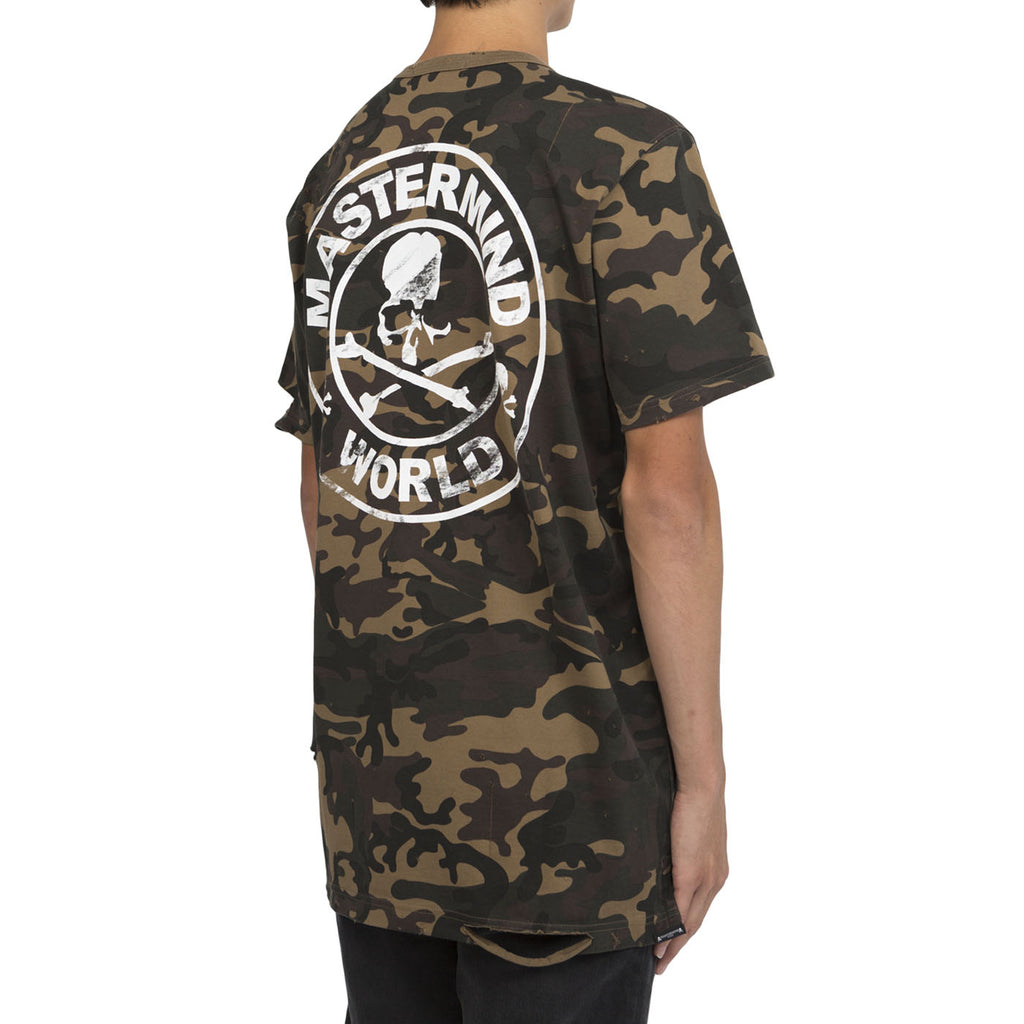 Mastermind World Distressed Logo T-shirt (Camo)