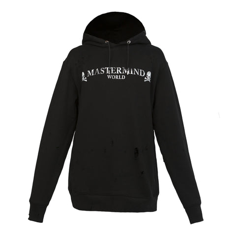 Mastermind World Distressed Hoodie (Black)