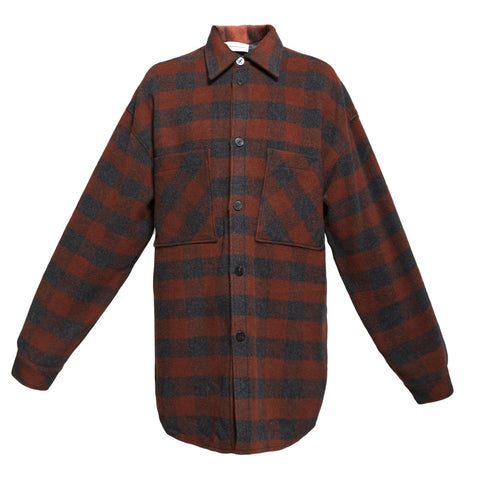 Faith Connexion Check Over Shirt (Foxy)