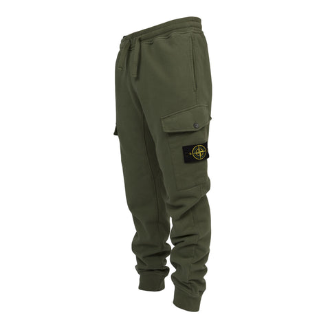 Stone Island Cargo Sweatpants (Green)