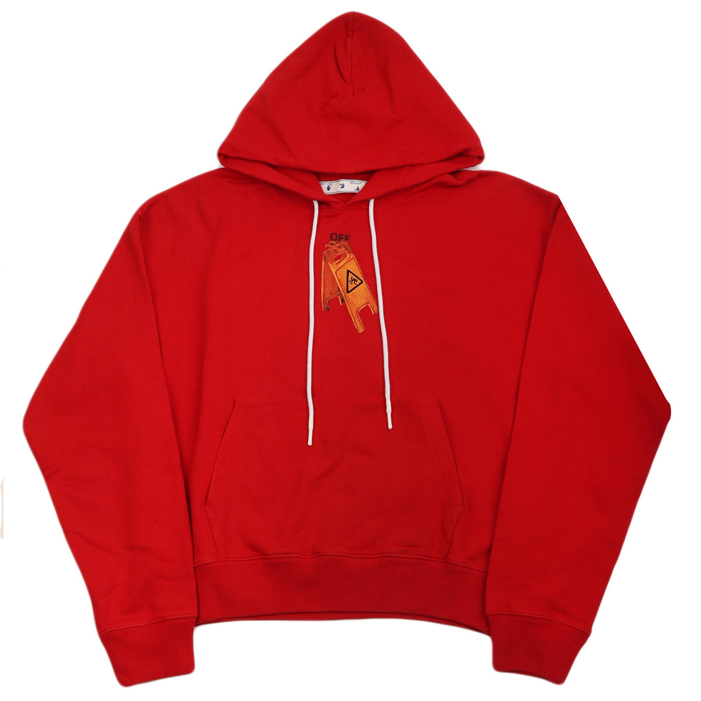 Off-White F20 Pascal Skeleton Over Hoodie, Red/Black