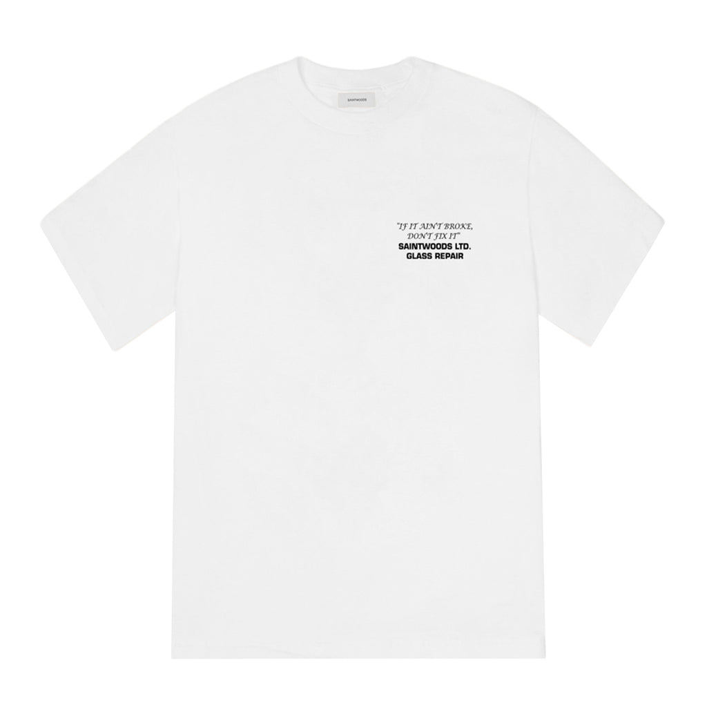 Saintwoods SS21 Glass Repair Tee, White