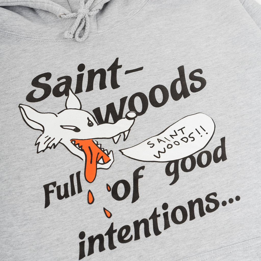 Saintwoods SS21 Wolf Hoodie, Ash Grey