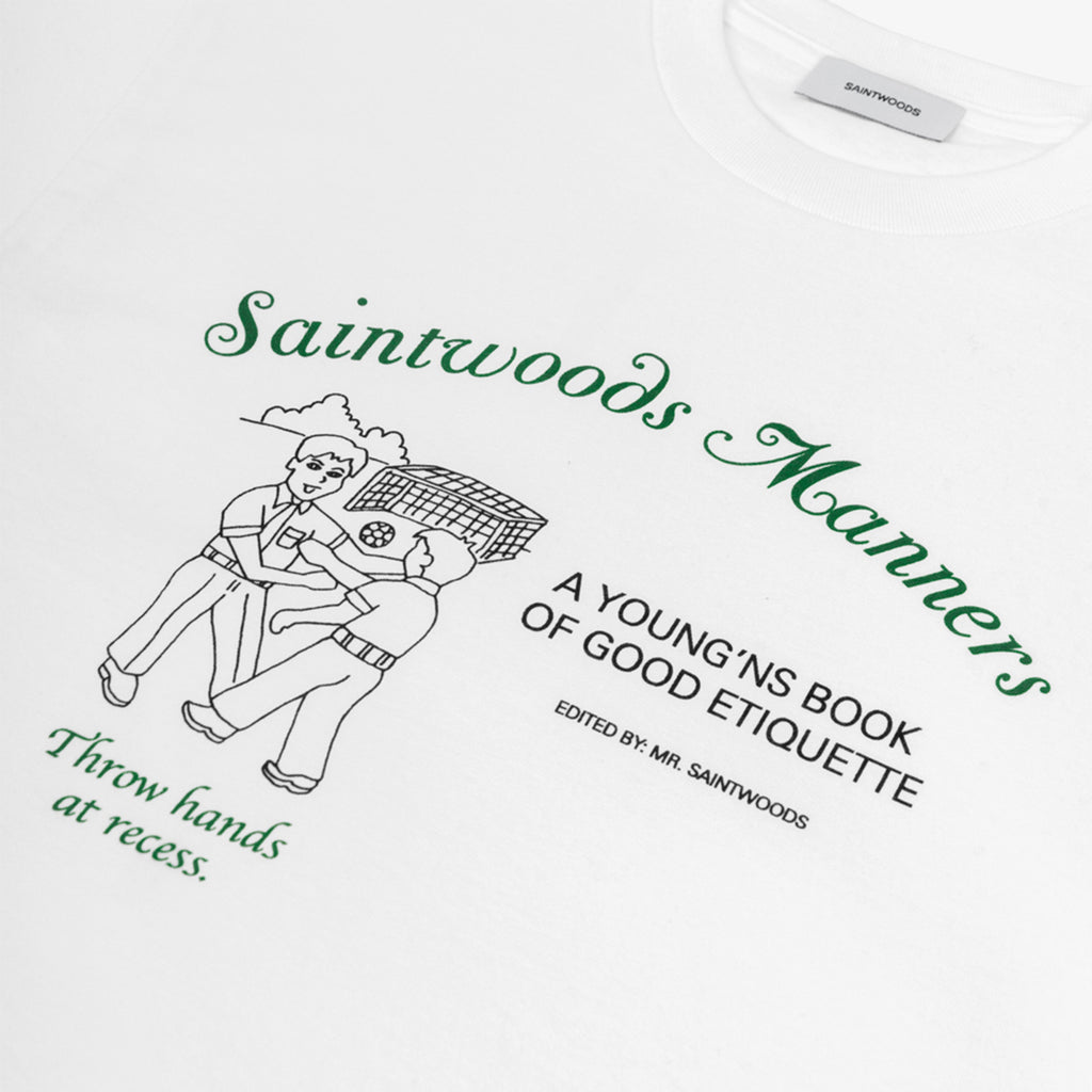 Saintwoods SS21 Manners Tee, White