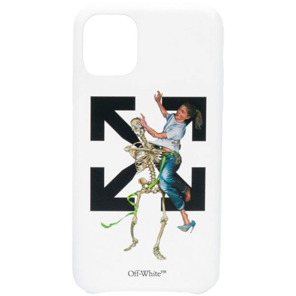 Off-White F20 Pascal Skeleton iPhone Cover, White/Light Blue