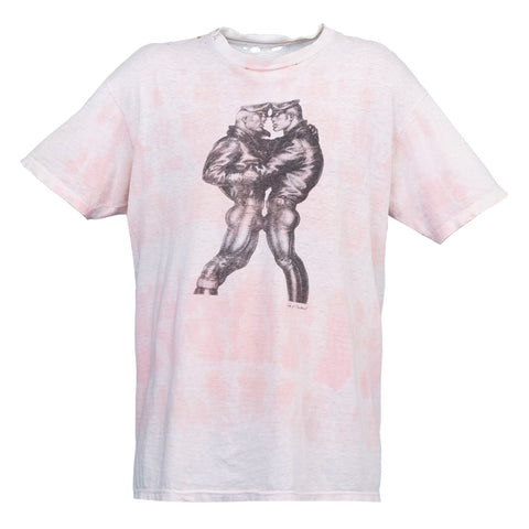 Saint Luis Tom of Finland TieDye Leather Tee (White/Pink)