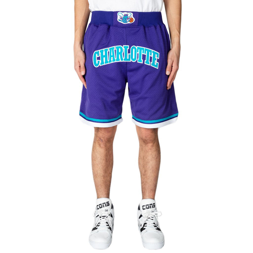 Just Don 94-95 Hornets Mesh Shorts, Dark Purple/Teal