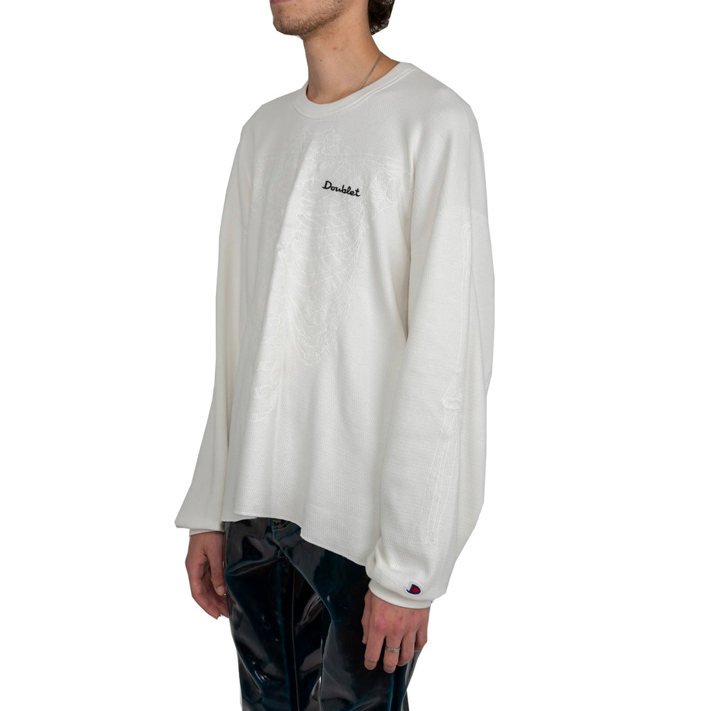 Doublet FW19 Skeleton Embroidery Thermal T-Shirt