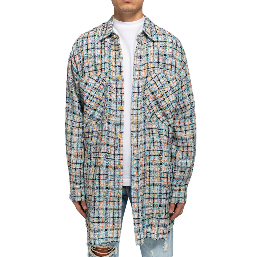 Faith Connexion SS19 Tweed Overshirt, Multi