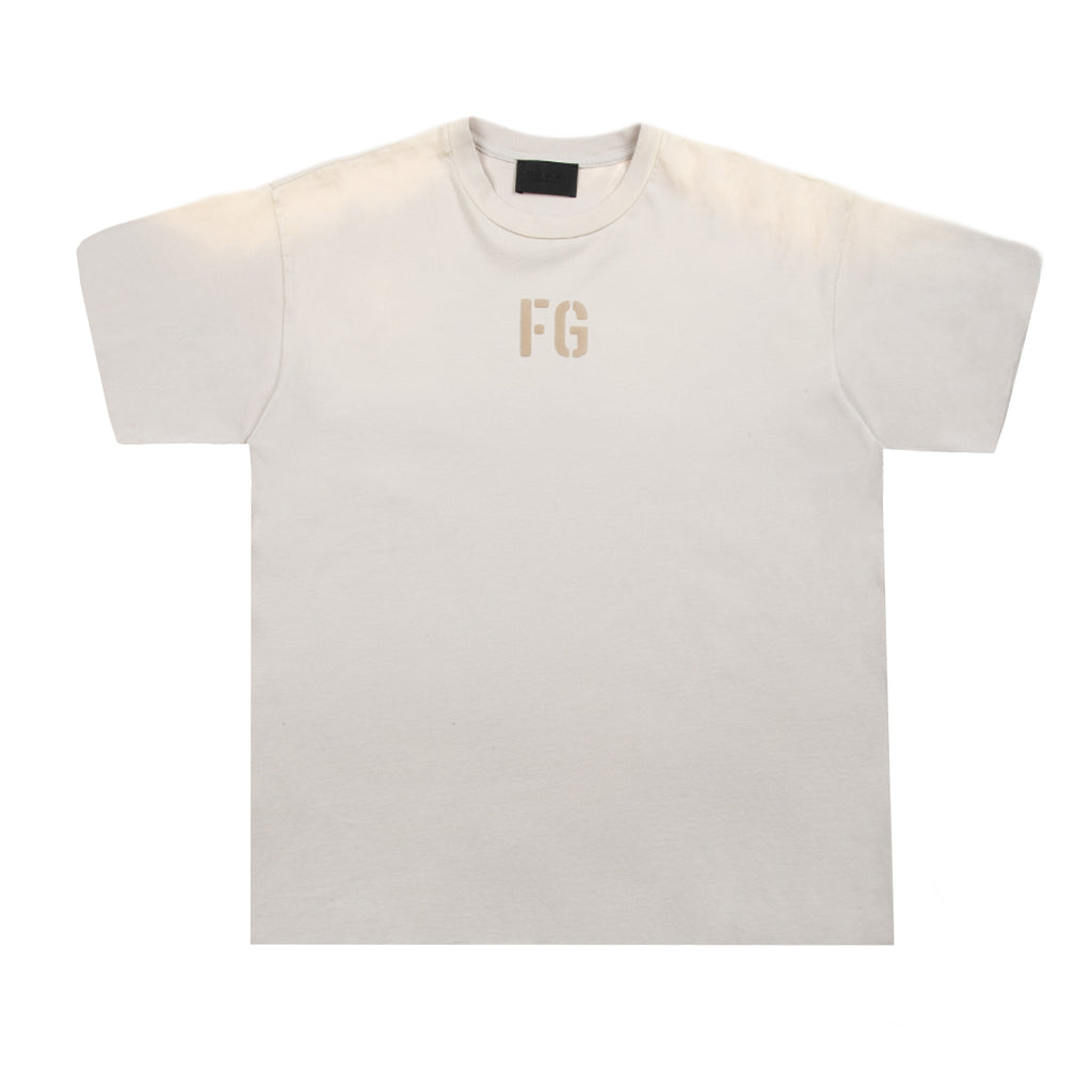 "Fear of God SS21 ""FG"" Tee, Vintage Concrete White"
