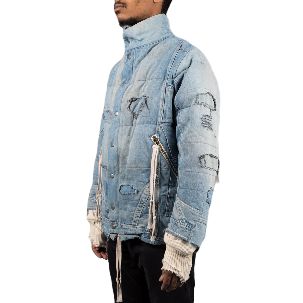 Greg Lauren Vintage Denim Retro Classic Puffy Jacket