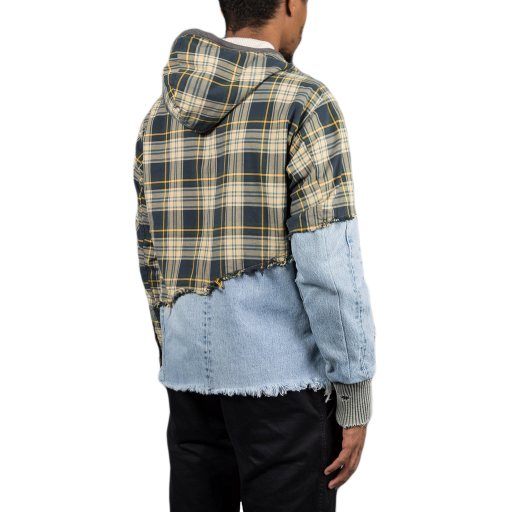 Greg Lauren 50/50 Wimbledon Vintage Denim High Tech Track Jacket