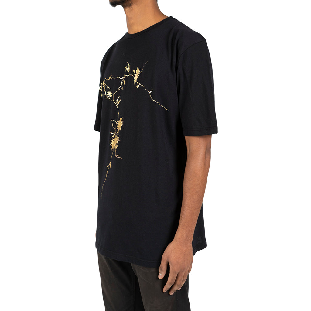 Haider Ackermann T-Shirt + Print Awuna, Black/Gold
