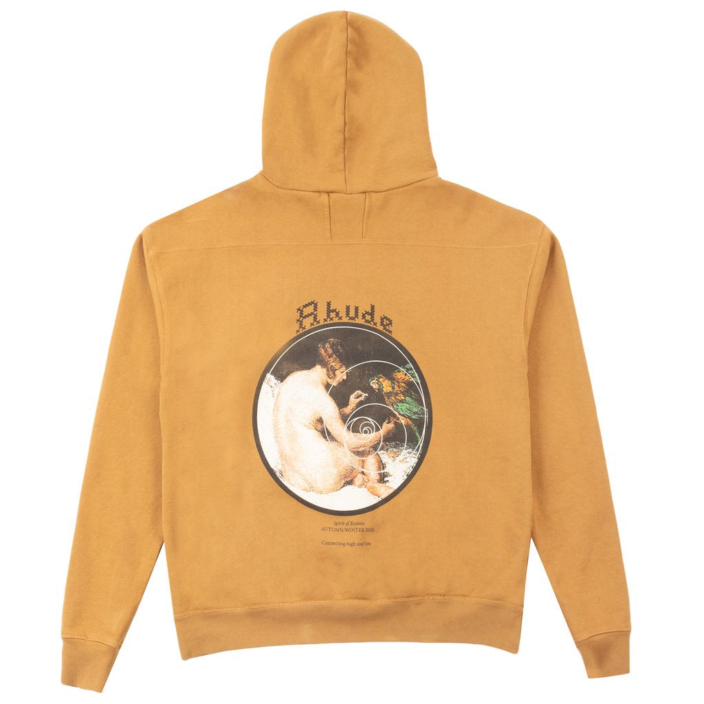 Rhude FW20 Spiral Woman Graphic Hoodie, Tan