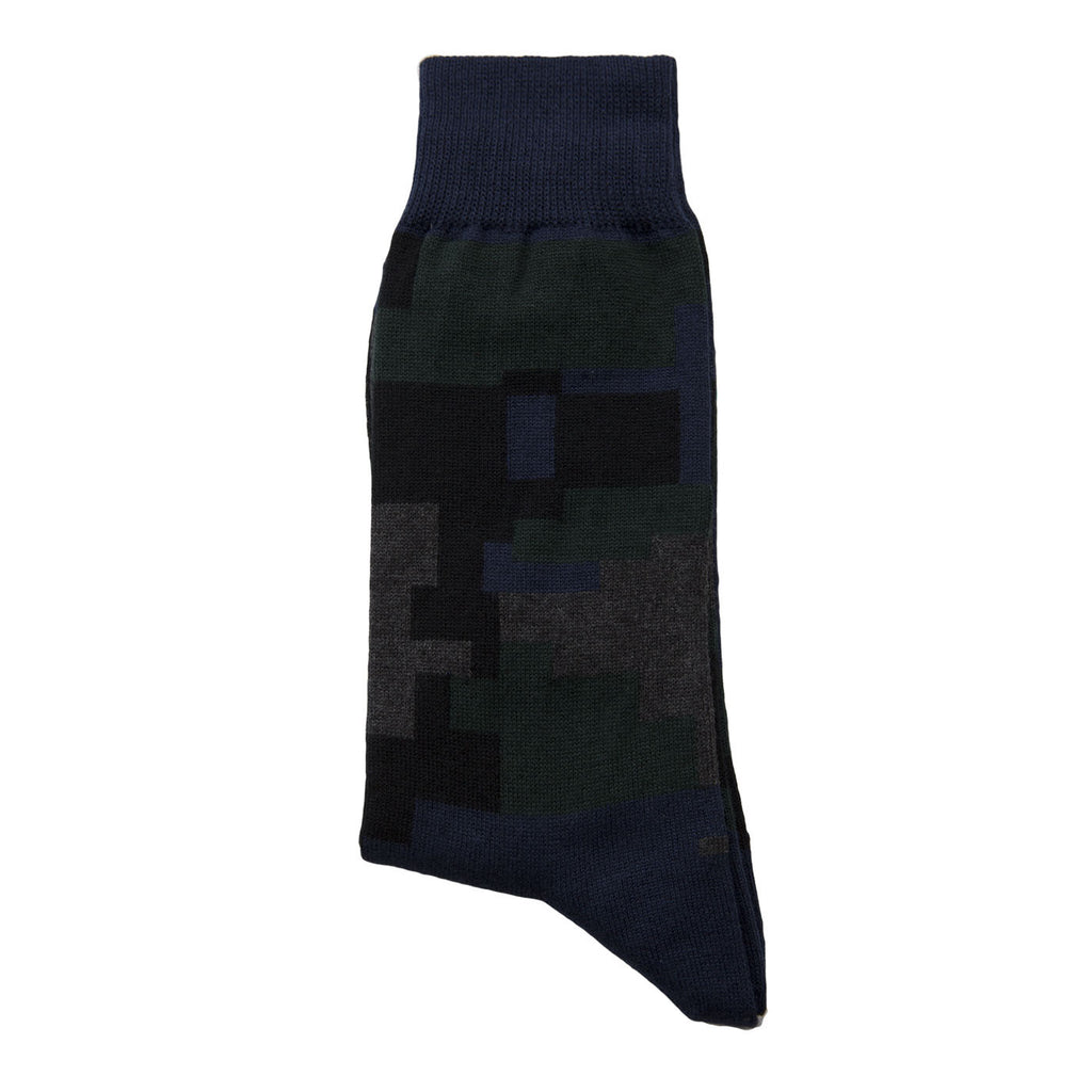 Sacai Parker Flower Socks (Navy)