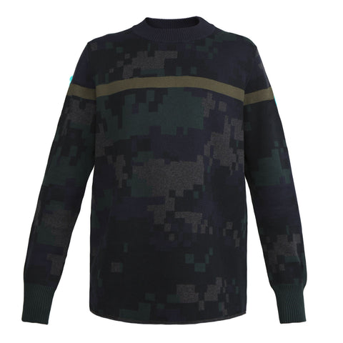 Sacai Parker Camo Sweater (Multi)