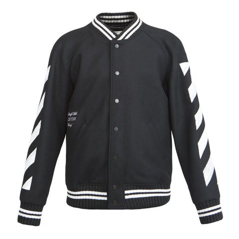 Off-White Diag Brushed Varsity Jacket (Black)