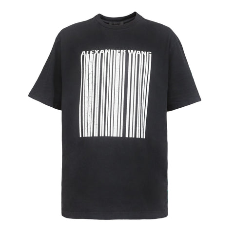 Alexander Wang Cracked Barcode Tee (Black)