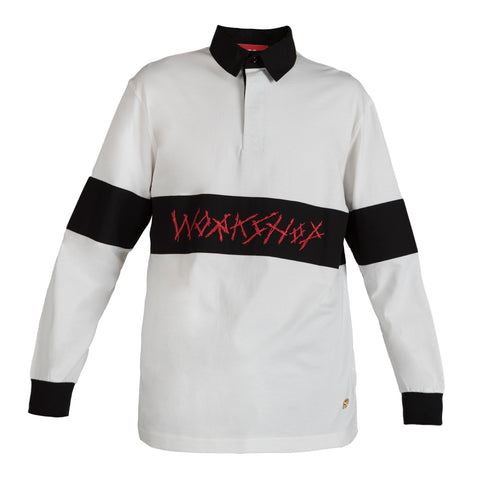 032c WWB Rugby Shirt (White/Black)