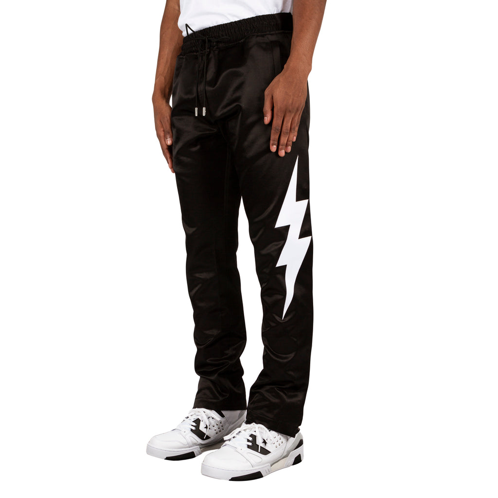 Just Don Lightning Satin Tearaway Pant, Black