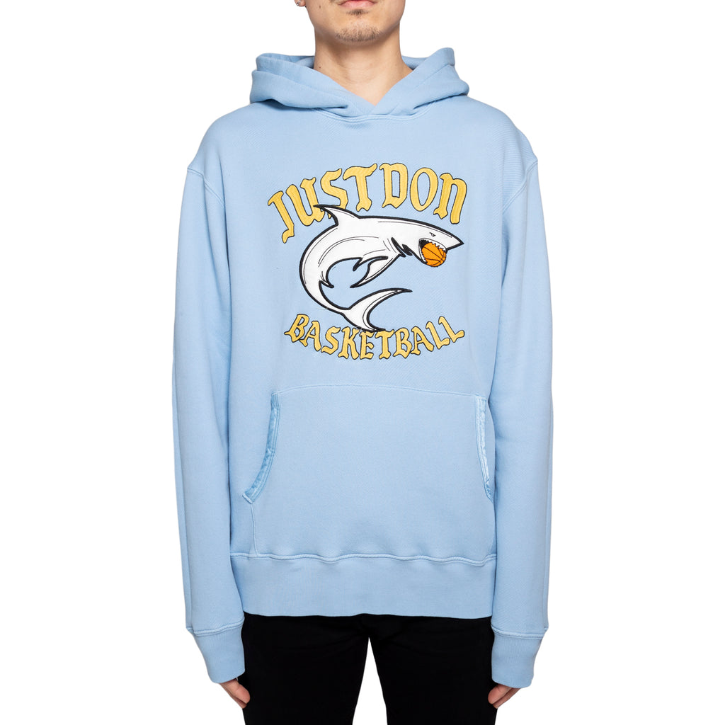 Just Don Islander Shark Hoodie, Light Blue