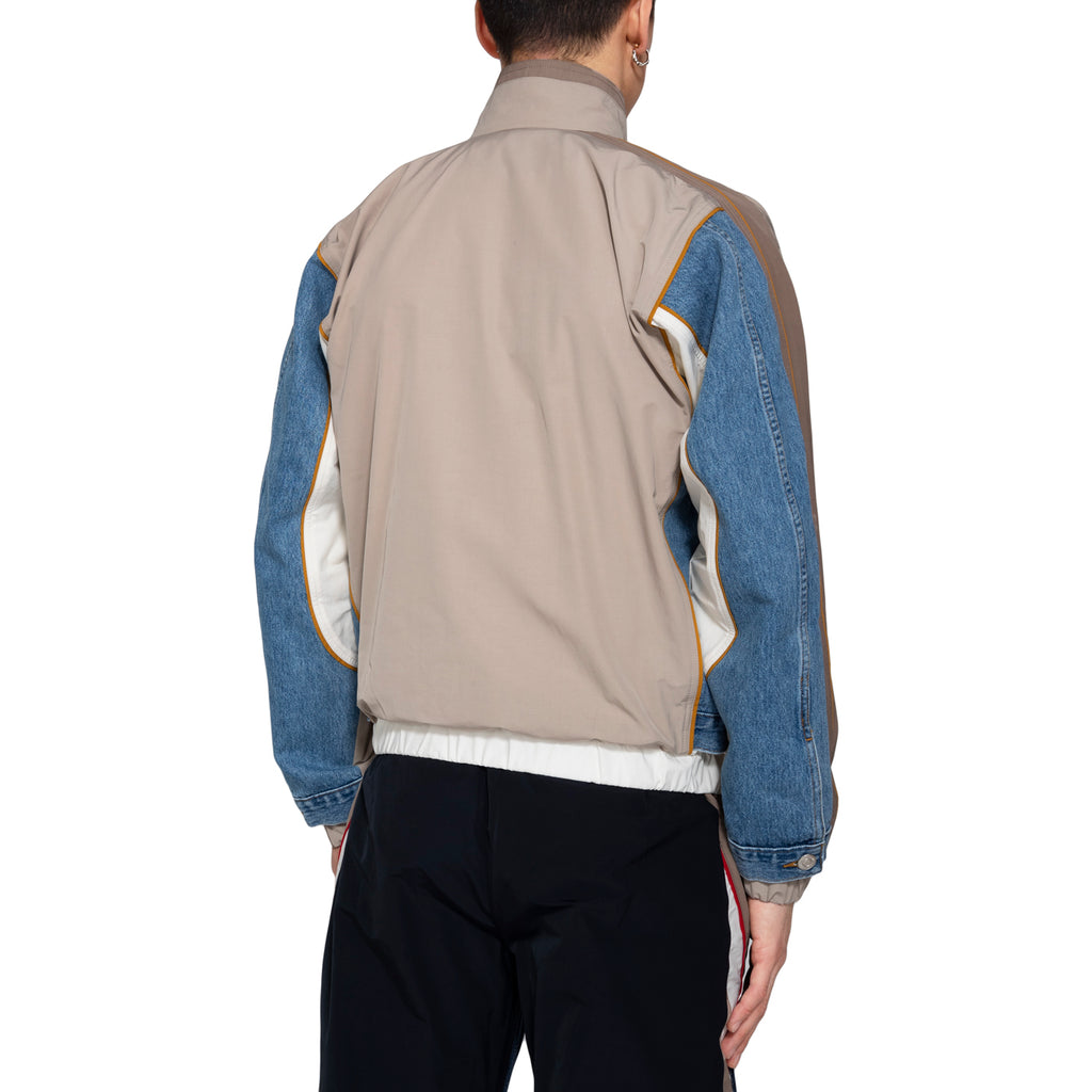 Martine Rose SS19 Hybrid Track Jacket, Light Denim