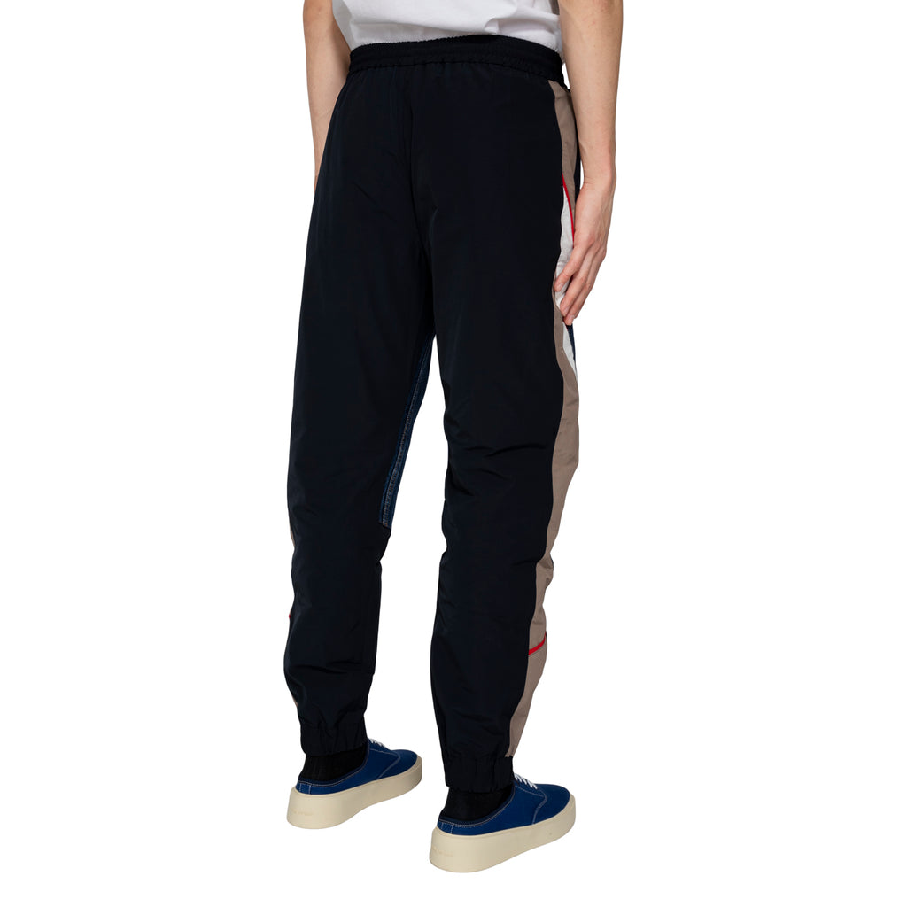 Martine Rose SS19 Hybrid Track Pants, Dark Denim/Nylon