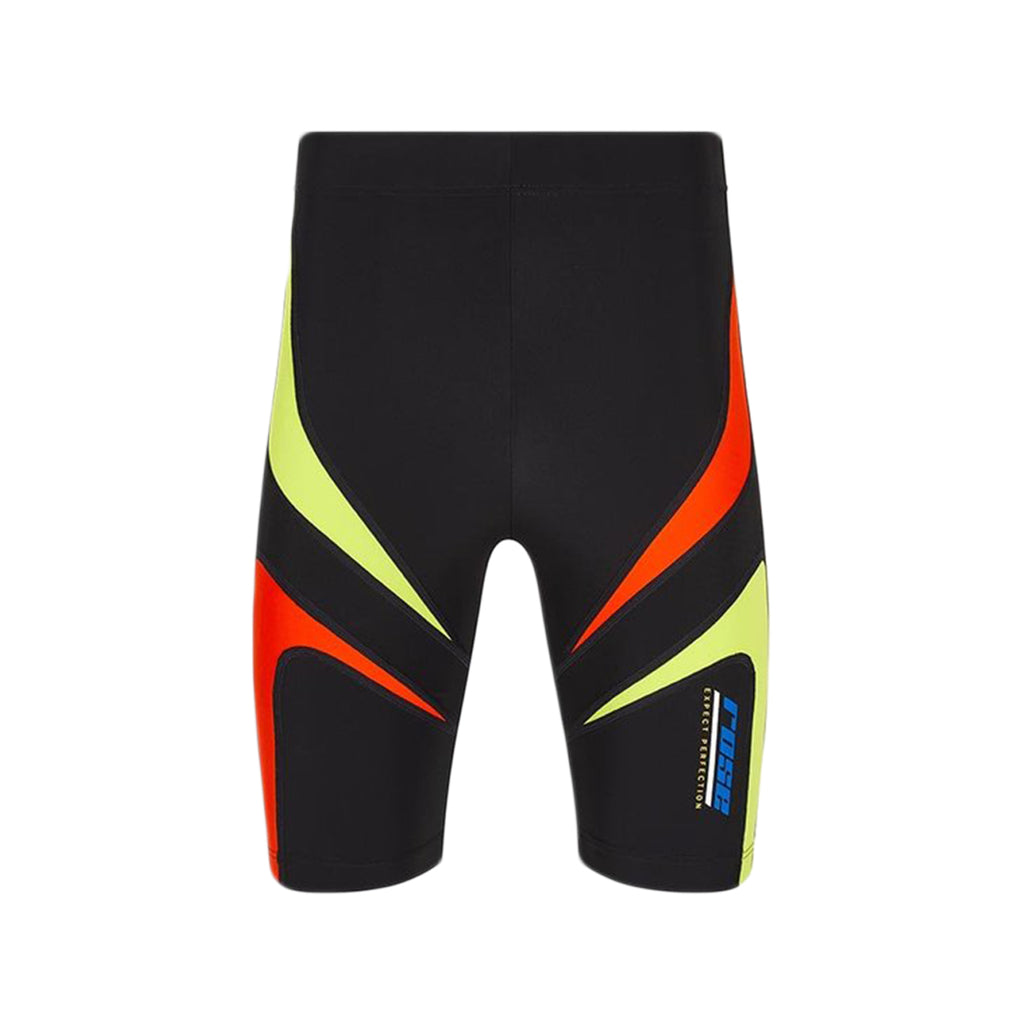Martine Rose SS21 Trebor Shorts, Black/Lime/Red