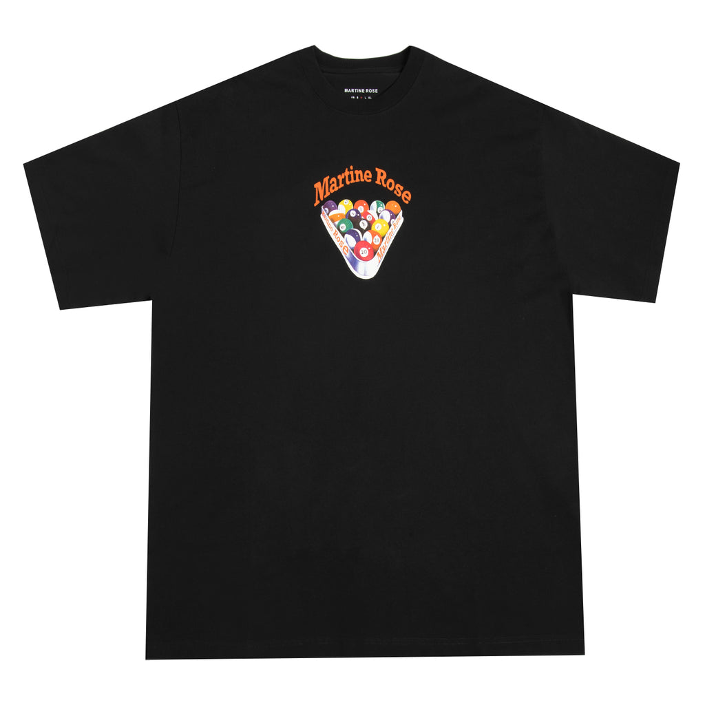 Martine Rose SS21 Brittle T-Shirt, Black Snooker