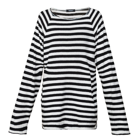 Undercover Striped Pullover (White/Black)