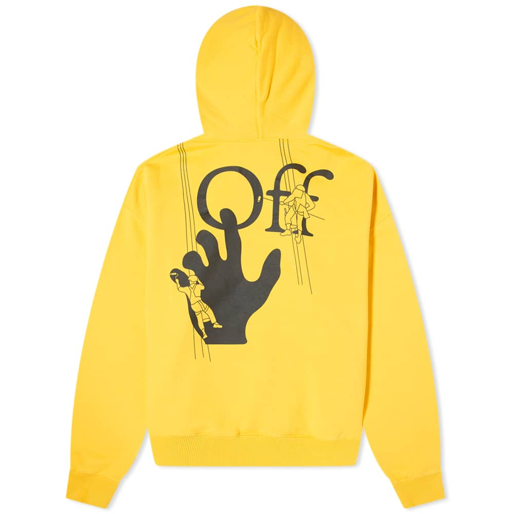 Off-White PF20 Hand Painters Over Hoodie, Yellow/Black