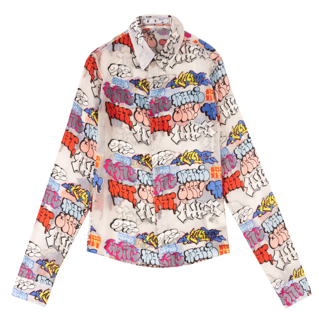 Off-White PS21 Graffiti Slim Shirt, Multi