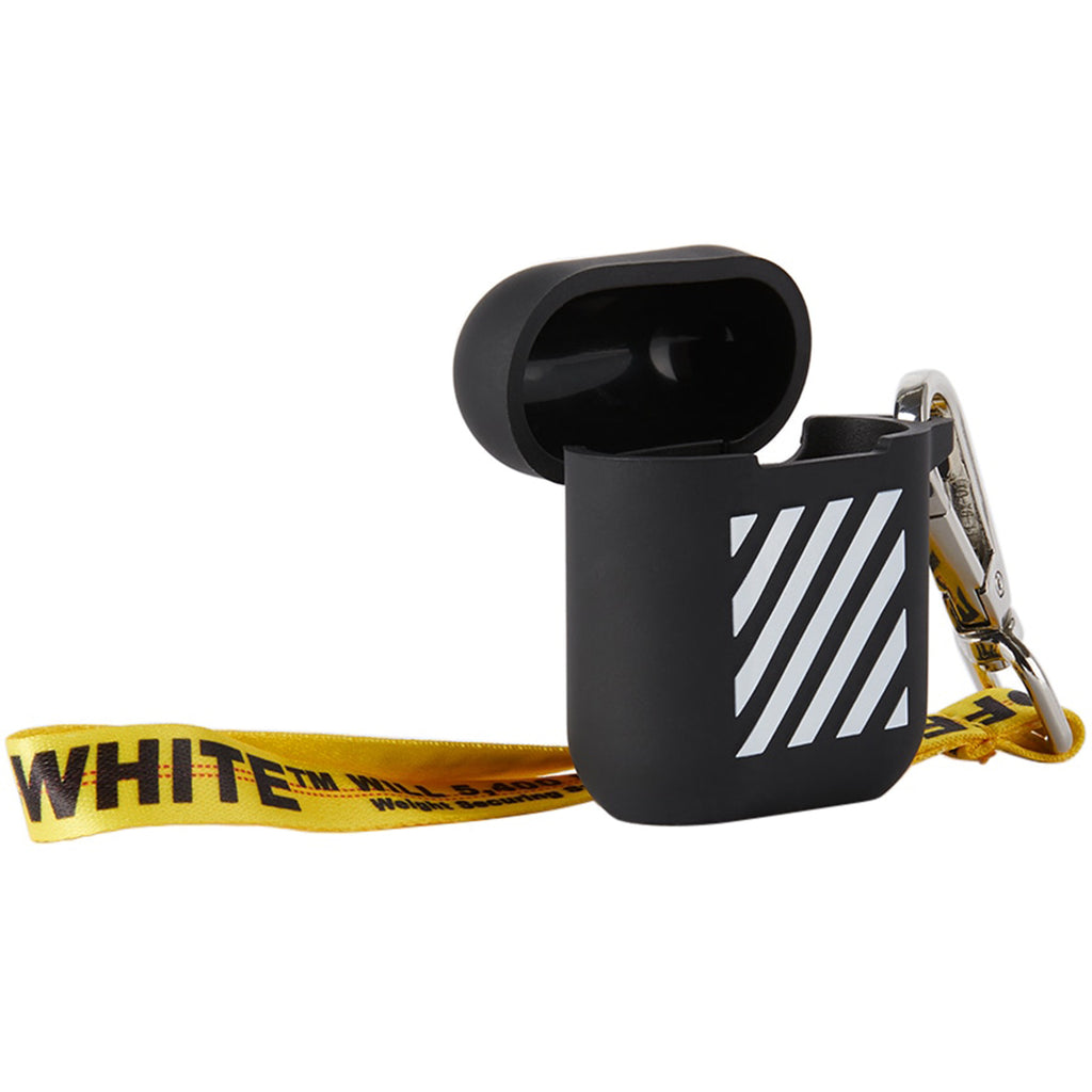 Off-White PS21 Diag Silicon AirPods Cover, Black/White