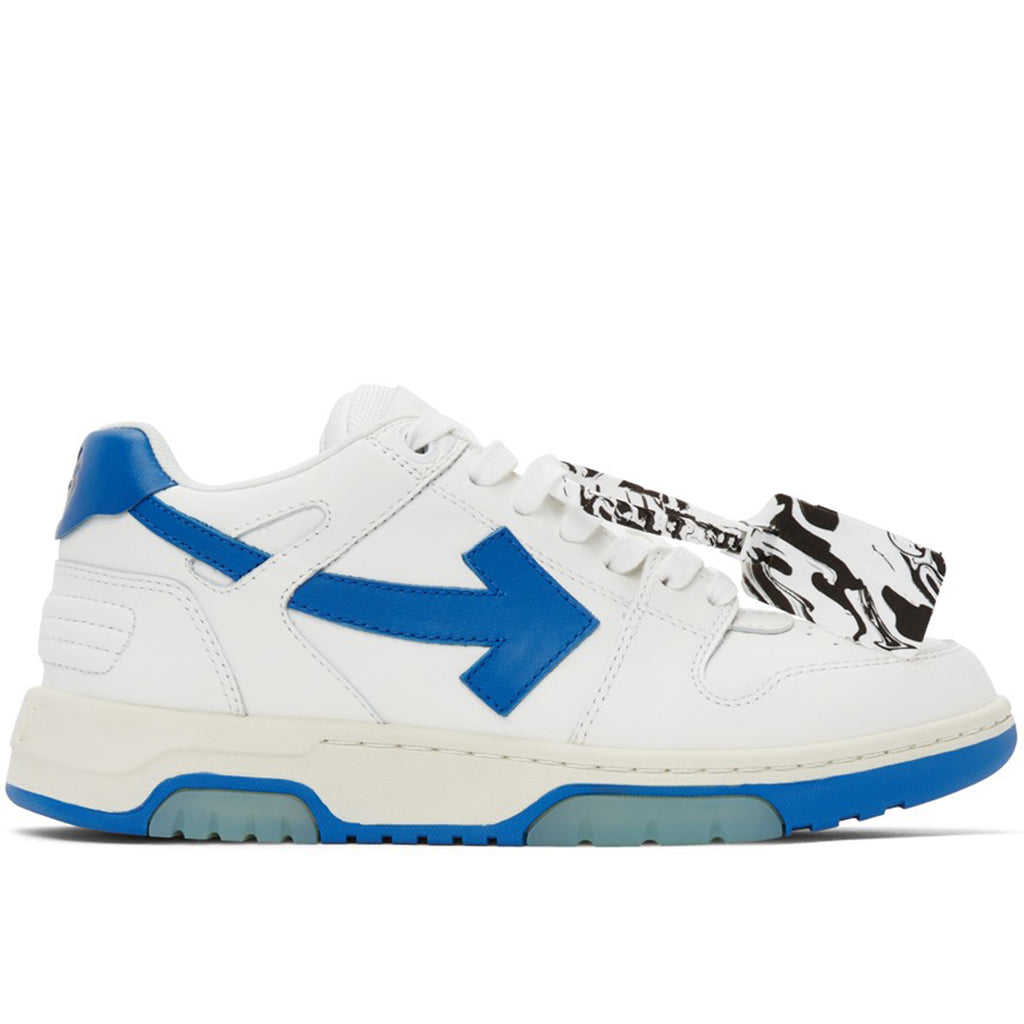 Off-White SS21 Out of Office Calf Leather, White/Blue