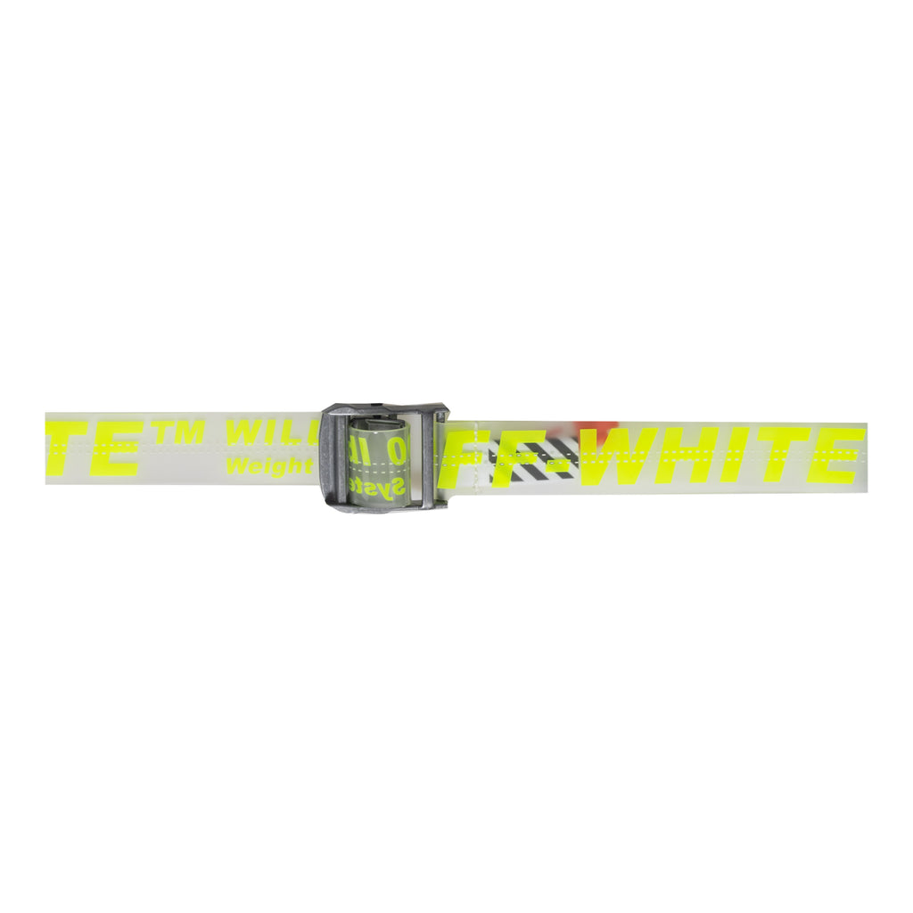 Off-White Rubber Industrial Belt, Fluo Yellow