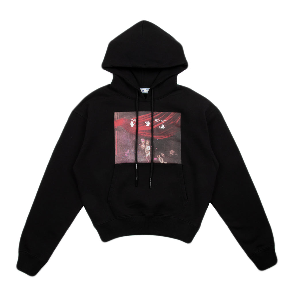Off-White SS21 Sprayed Caravaggio Over Hoodie, Black/White