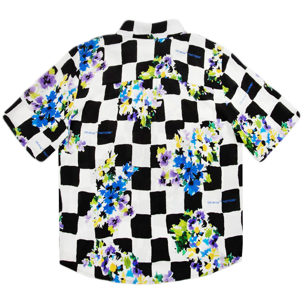 Off-White SS21 Check Flowers S/S Shirt, Multi