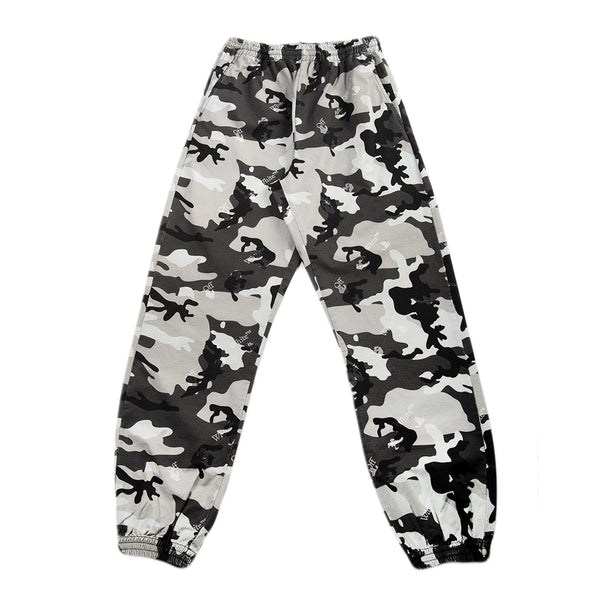 Off-White SS21 OW Logo Camo Casual Pant, Grey/Camo