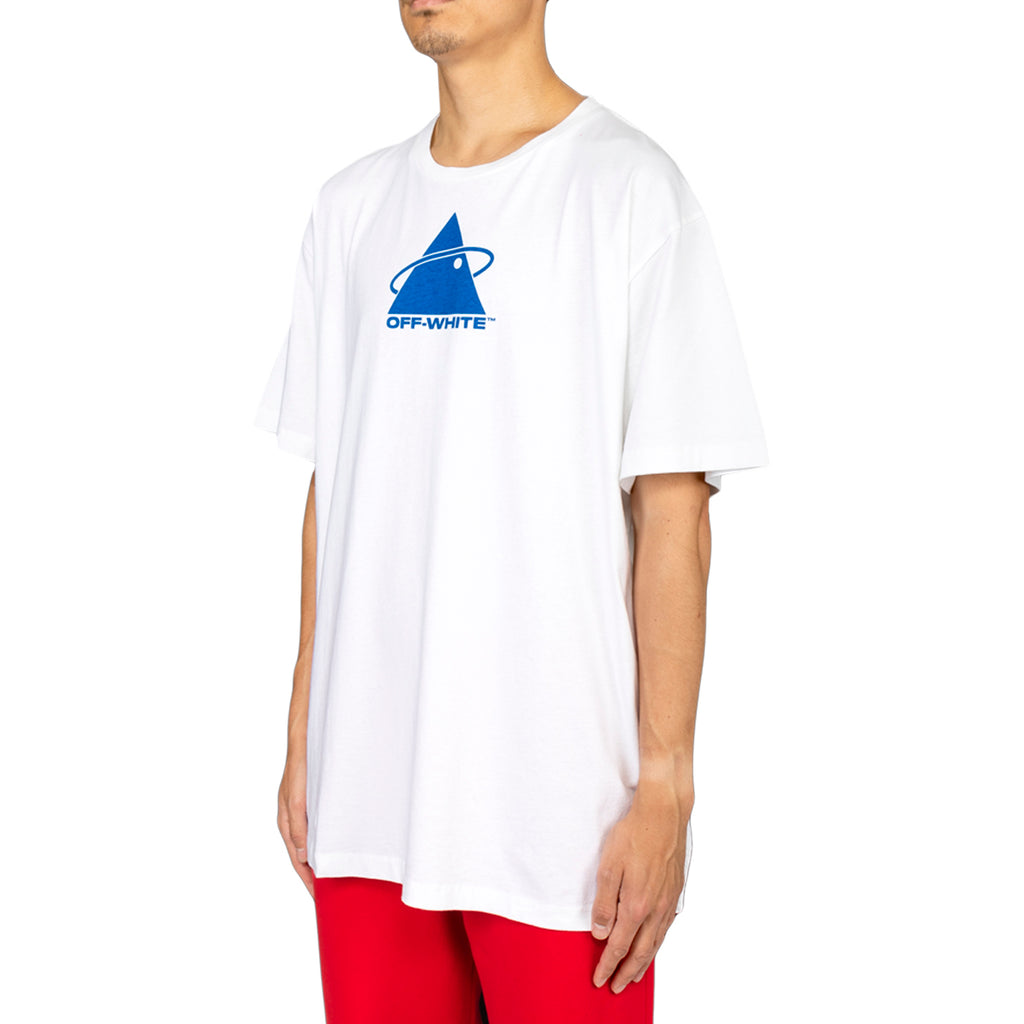 Off-White PF19 Triangle Planet S/S Over Tee, White/Blue