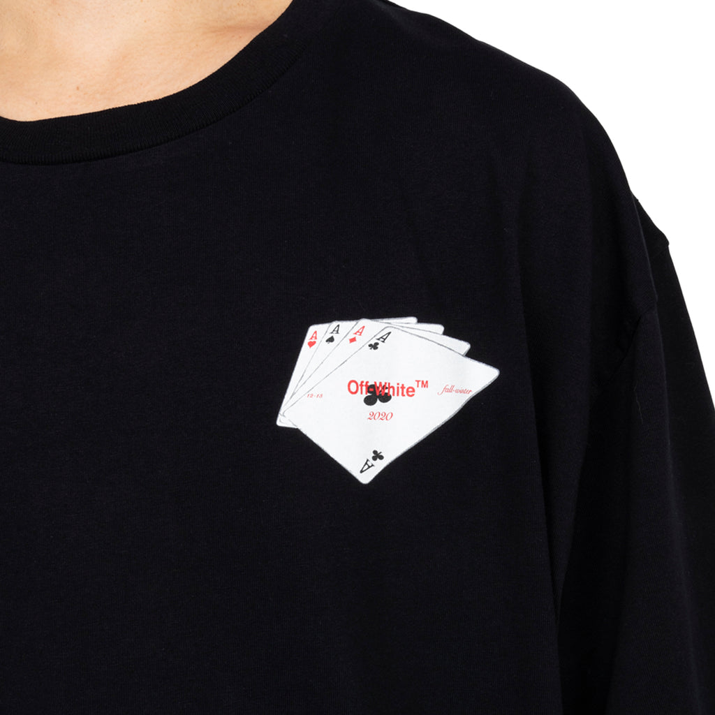 Off-White PF19 Hand Card S/S Over Tee, Black