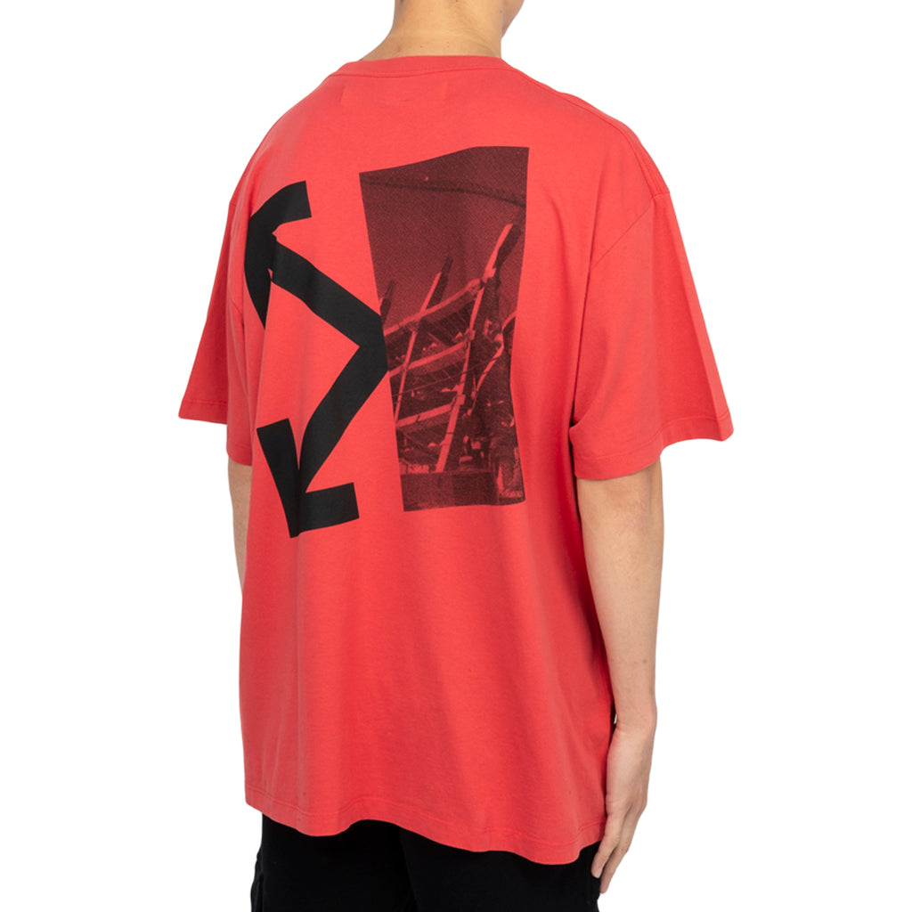 Off-White PF19 Splitted Arrows S/S Over Tee, Red/Black