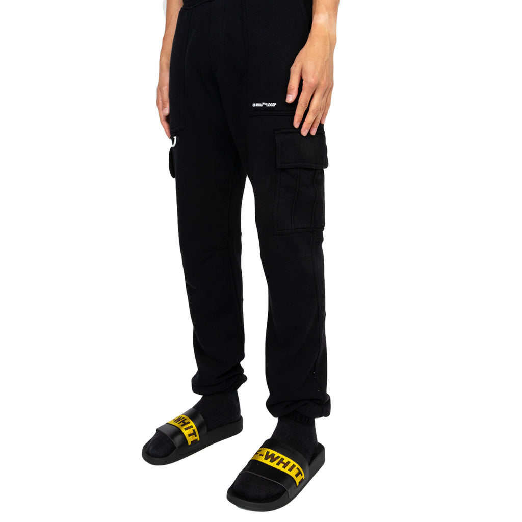 "Off-White PF19 ""Logo"" Cargo Sweatpants, Black/White"
