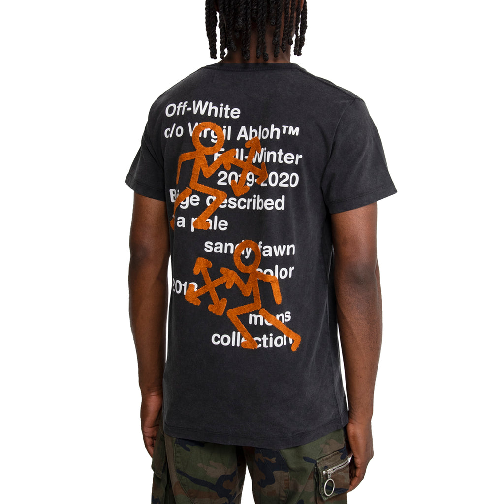 Off-White FW19 Pictogram S/S Tee, Black/Multi