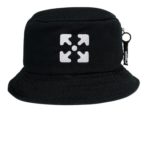 Off-White PS20 Bucket Hat, Black/White