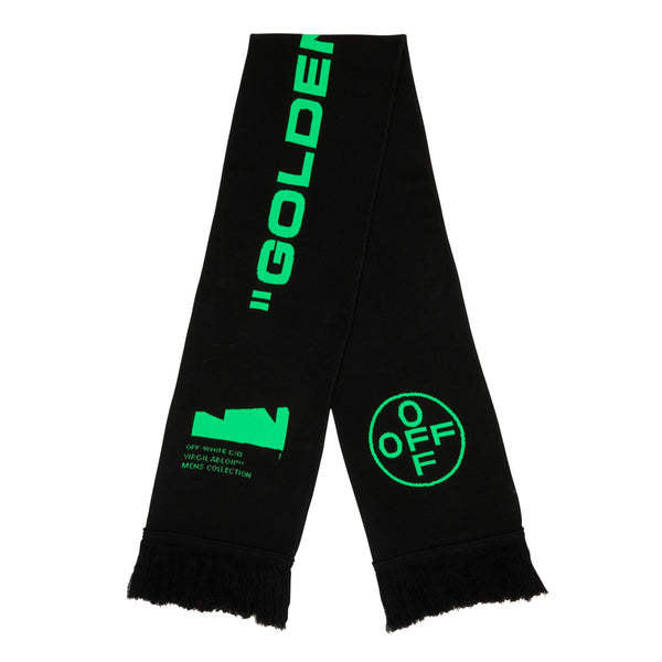 Off-White PS20 Arch Shapes Scarf, Black/Brilliant Green